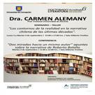 Imagen Actividades profesor visitante Dra. Carmen Alemany