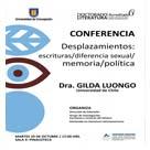 Imagen Conferencia Desplazamientos: escrituras/ diferencia sexual/ memoria/ política
