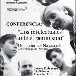 """Imagen CONFERENCIA: """" Los Intelectuales ante el Peronismo"""""""