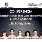 Imagen CONFERENCIA: Pedagogías teatrales en el Chile posautoritario: El caso Spandex