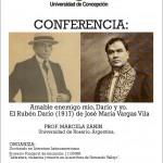 """Imagen CONFERENCIA: """"Amable enemigo mío, Darío y yo. El Rubén Darío (1917) de José María Vargas Vila"""""""