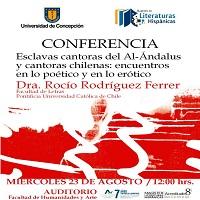 """Imagen Conferencia: """"Esclavas cantoras del Al-Ándalus y cantoras chilenas: encuentros en lo poético y en lo erótico"""""""