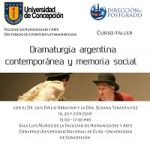 "Imagen CURSO-TALLER ""DRAMATURGIA ARGENTINA CONTEMPORÁNEA Y MEMORIA SOCIAL"""