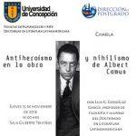 """Imagen CHARLA """"ANTIHEROÍSMO Y NIHILISMO EN LA OBRA DE ALBERT CAMUS"""""""