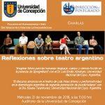 """Imagen Charlas """"Reflexiones sobre teatro argentino"""""""